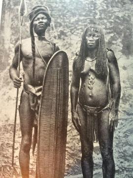 Africanos Bantu, expuestos en zoos humanos