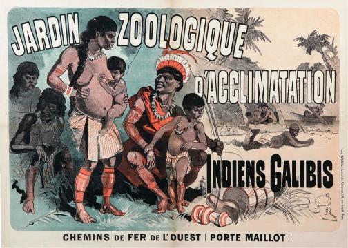 Cartel de un Zoológico de humanos
