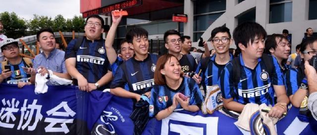Grande entusiasmo dei tifosi cinesi per l'arrivo dell'Inter, impegnata nella tournée internazionale in estremo oriente