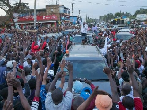 President Kenyatta during the campaigns - the-star.co.ke