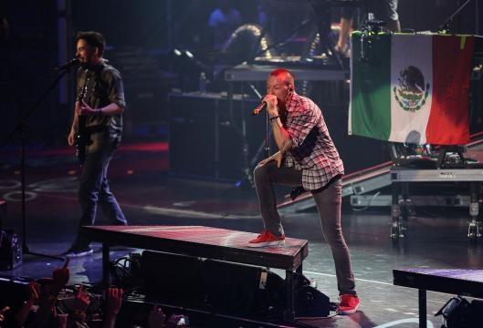Chester Bennington in MTV World Stage Monterrey, Mexico 2012 ... - zimbio.com
