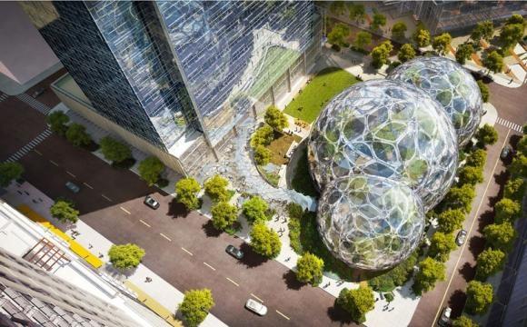 Sediul corporației Amazon din Seattle (SUA)