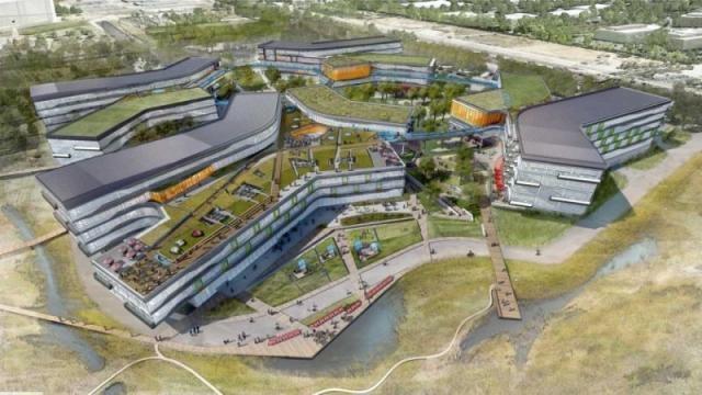 Viitorul sediu al Google din Mountain View