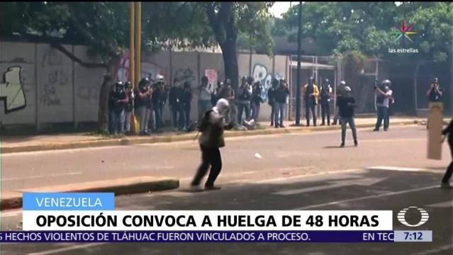 Huelga de 48 horas en Venezuela convocada por la oposición