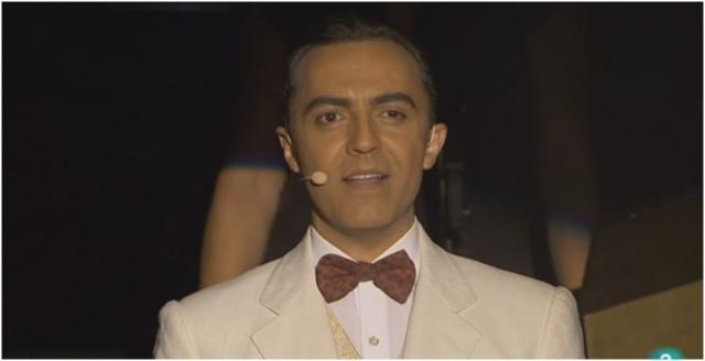 Ángel Ruiz perfectamente caracterizado de Lorca