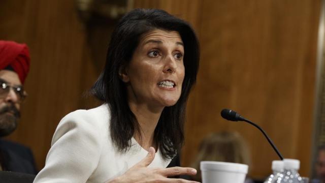 Nikki Haley warns North Korea at UN.
