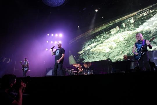Todos os elementos dos Deep Purple na foto