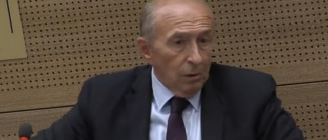 Gérard Collomb. ministro dell'Interno francese