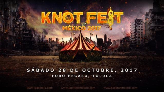 Knot Fest 2017 se llevará a cabo el 28 de octubre en el Foro Pegaso