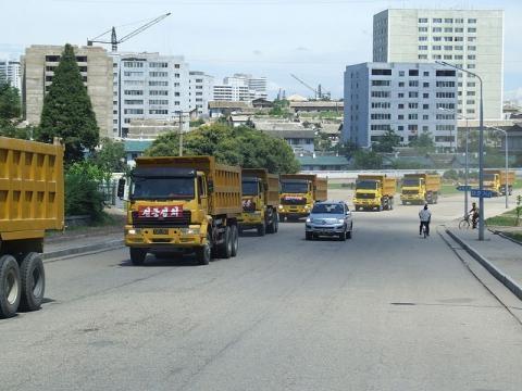 Street scene in Pyongyang (credit – Nicor – wikimediacommons)