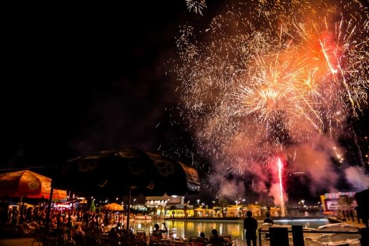 Many of Jake's parties are very lavish and some even include fireworks. / Photo via Jake Resnicow, used with permission.