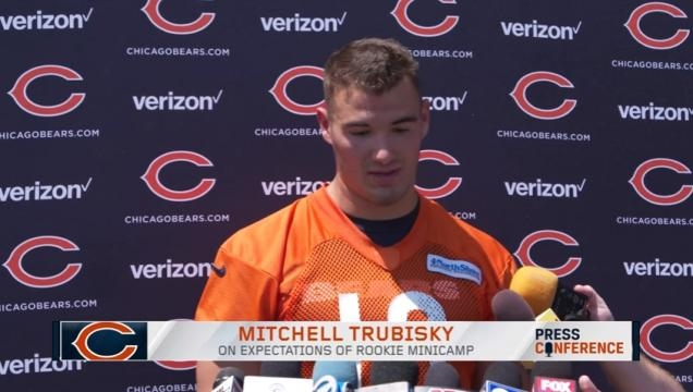 Mitchell Trubisky talks Rookie Minicamp - Image- Chicago Bears | YouTube