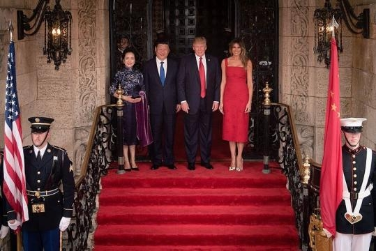 President Trump with President Xi at Mar-a-Lago (credit - D. Myles Cullen – wikimediacommons)