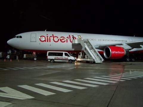 An Air Berlin plane waiting for passengers- wikimediacommons.org