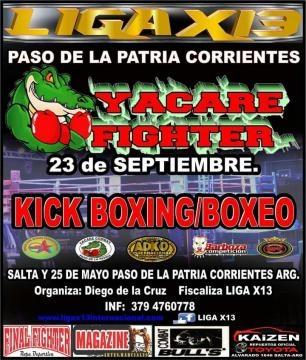 Próximo evento de kick boxing en Argentina.