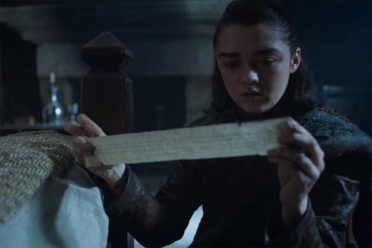Game of Thrones : Une simple lettre qui pourrait faire bien des dégats.