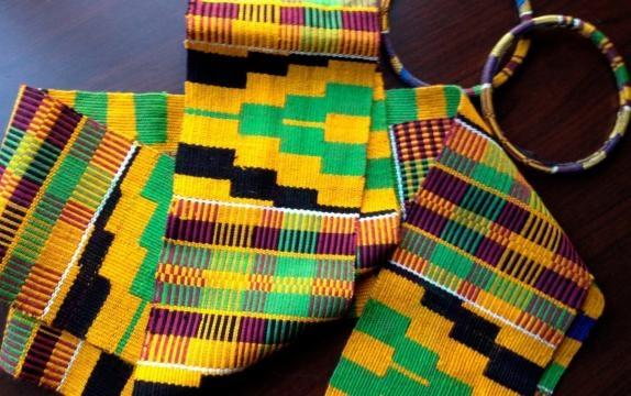 Magnifique Kente multicolore du Ghana