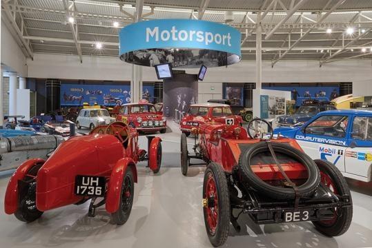 L'isola dedicata alle auto inglesi da competizione. La regina è la Mini Cooper, che vinse il Rally di Montecarlo nel 1964