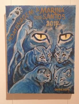 Tela de homenagem a Marina: Gatos