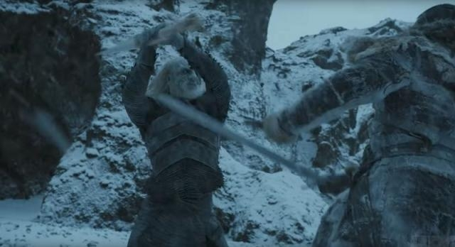A White Walker assaulting someone. Screencap: GameofThrones via YouTube