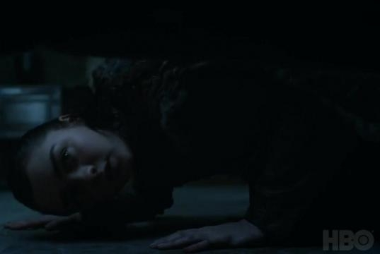 Arya looking for something in Winterfell. Screencap: GameofThrones via YouTube