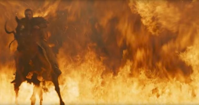 Flames on the battlefield. Screencap: GameofThrones via YouTube