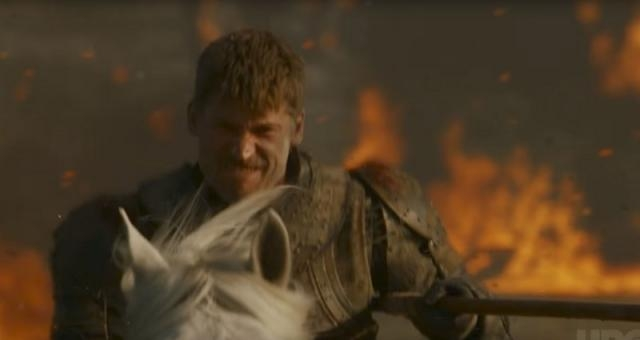 Jaime Lannister fighting against Daenerys' forces. Screencap: GameofThrones via YouTube