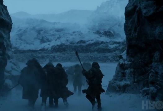 The expedition beyond the Wall. Screencap: GameofThrones via YouTube