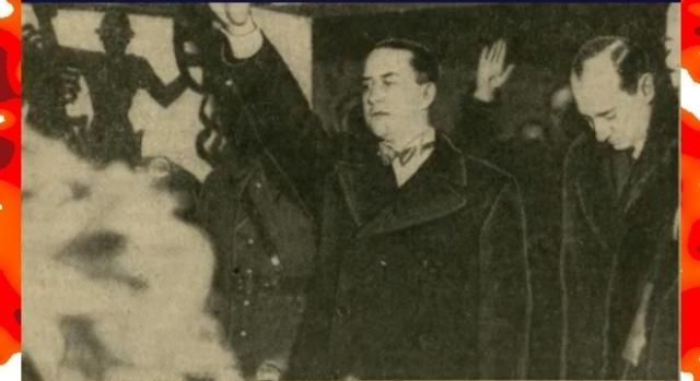Ciano i Beck oddają cześć Józefowi Piłsudskiemu przed jego sarkofagiem na Wawelu