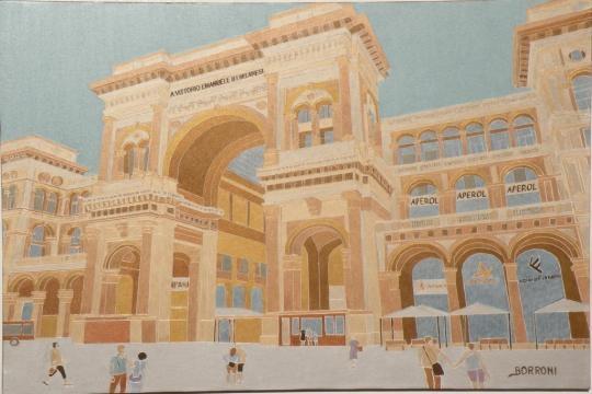 Ingresso di galleria Vittorio Emanuele Milano di Sandro Borroni