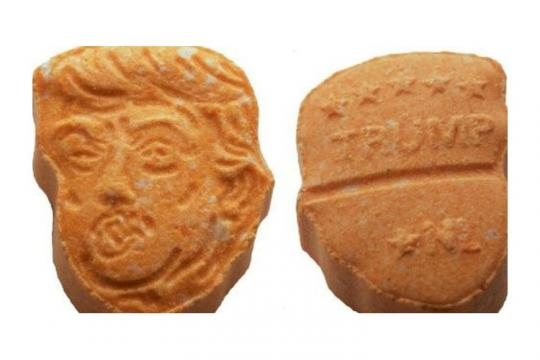 German police seize 5,000 ecstasy pills in the likeness of U.S. President Donald Trump [Image: Osnabrück Police]