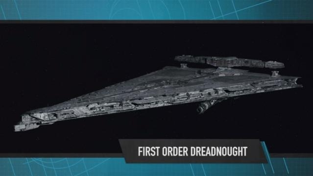 The Dreadnought with an orbital cannon peeking through at the bottom. - YouTube/Star Wars
