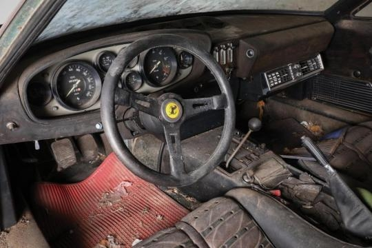 L'interno dell'auto costruita nel 1969