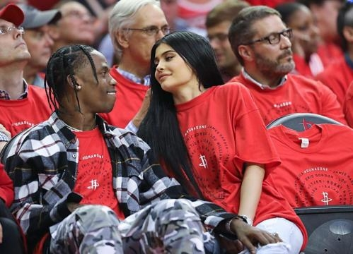 Kylie Jenner 'shares passionate kiss' with Travis Scott at his ... - thesun.co.uk