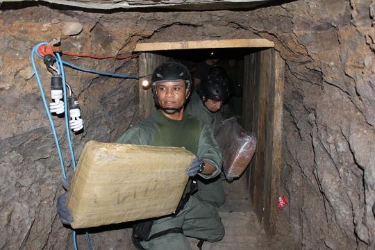 Otay Mesa Drug Tunnel (Credit - Ron Rogers – wikimediacommons)
