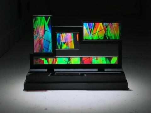 The HoloCenter displays holographic artwork. / Photo via Martina Mrongovius, HoloCenter, used with permission.