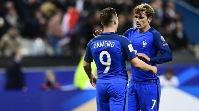 Gameiro-Griezmann: 4-1 Francia in salsa Atletico Madrid ... - eurosport.com