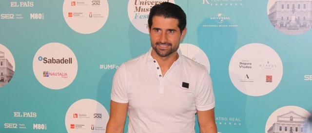 El ex-futbolista y entrenador español Rubén de la red en el concierto de Luis Fonsi