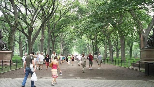 The Mall and Literary Walk, Central Park, NYC (credit – Ahodges7 – wikimediacommons)