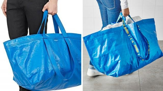 Balenciaga recrea la famosa bolsa de Ikea ( foto: el periodico )