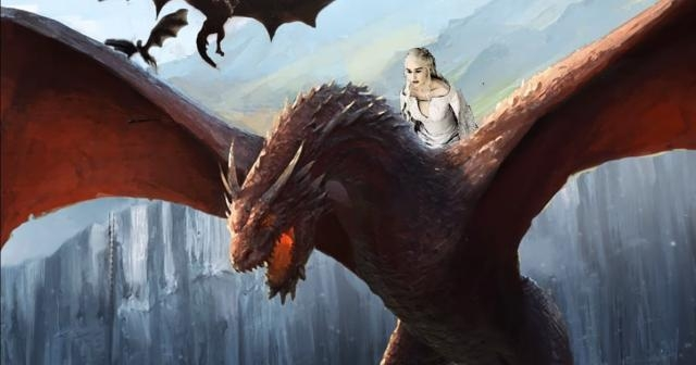 Daenerys riding Drogon (The Book of White Walkers / YouTube)