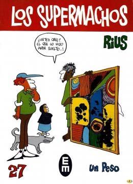 Portada de 'Los Supermachos', una de las obras cumbre de Rius.