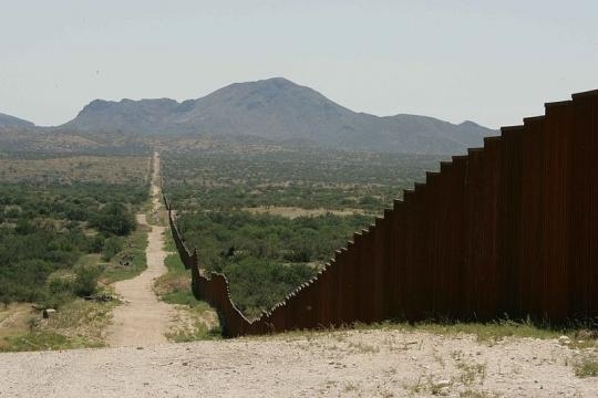 Prototypes for border wall in development. - Image Credit: Hillebrand Steve/Wikimedia