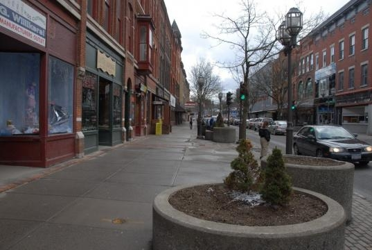 Oneonta, NY- Main Street during Fall