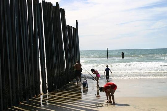 Prototypes for border wall in development. - Image Credit: Rev Sysyphus/Wikimedia