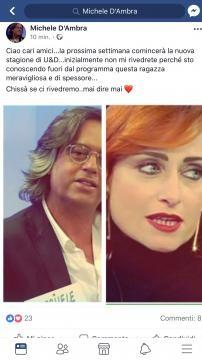 Post di Michele d'Ambra su Facebook