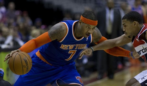 Carmelo Anthony is reportedly open to moving to the Portland Trail Blazers / Photo via Keith Allison, Flickr CC