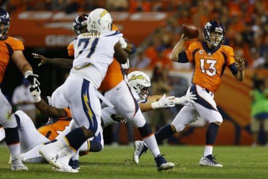 Seimian tuvo un gran partido y más con presión en el pocket. Fox 31 Denver.com.