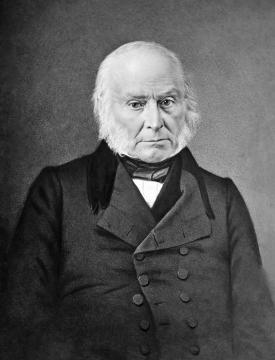 El presidente John Quincy Adams