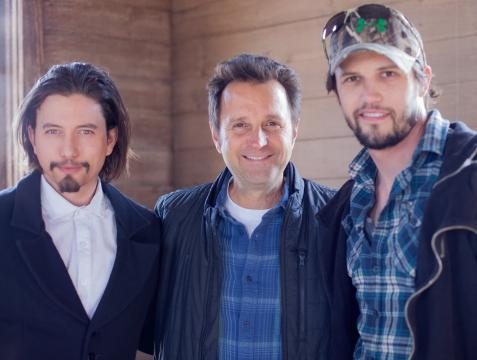 Richard Gabai with Jackson Rathbone and Nathan Parsons. / Photo via Hopper Stone and Wendy Shepherd PR, used with permission.
